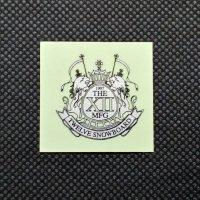 TWELVE トゥエルブ【LOGO SHEET STICKER】 銀/黒 小  ステッカー 新品正規(メール便)
