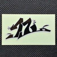 TWELVE トゥエルブ【12 LOGO SHEET STICKER】 銀/黒 小  ステッカー 新品正規(メール便)