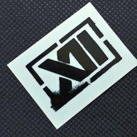 TWELVE トゥエルブ【LOGO SHEET STICKER】 黒 5cm  ステッカー 新品正規(メール便)
