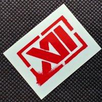 TWELVE トゥエルブ【LOGO SHEET STICKER】 赤 5cm  ステッカー 新品正規(メール便)