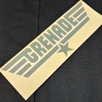 GRENADE グレネード ステッカー 【DIECUT LOGO STICKER】グレー 33cm 新品正規(メール便)