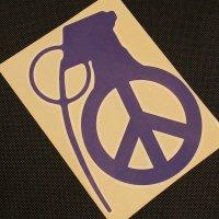GRENADE グレネード ステッカー【DIECUT PEACEBOMB STICKER】紫 17cm 新品正規(メール便)