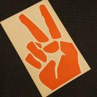 GRENADE グレネード ステッカー【DIECUT PEACE STICKER】オレンジ 17cm 新品正規(メール便)
