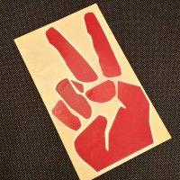 GRENADE グレネード ステッカー【DIECUT PEACE STICKER】赤 17cm 新品正規(メール便)