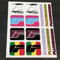 FLUX フラックス ステッカー【LOGO SET SHEET STICKER】RASTA 1 14.5cm 新品正規(メール便)