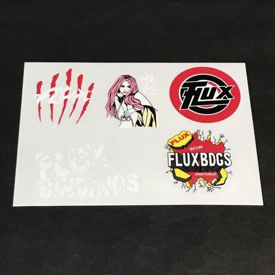 FLUX フラックス ステッカー LOGO SET SHEET STICKER 赤/黒 新品正規