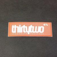 THIRTYTWO サーティーツー 【LOGO STICKER】 白/オレンジ 10.5cm 新品正規(メール便)