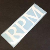 RPM アールピーエム 【LOGO STICKER】 白 18×6cm ステッカー 新品正規(定)