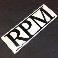 RPM アールピーエム 【LOGO STICKER】 黒 18×6cm ステッカー 新品正規(定)
