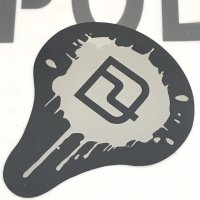 DEELUXE ディーラックス 【メタルペイントステッカー 】黒/銀 10cm 新品正規(メール便)
