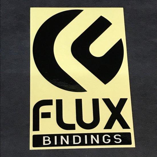 FLUX フラックス ステッカー【LOGO STICKER】黒 12.5×8cm 新品正規(メール便)