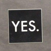 YES. イエス【LOGO  STICKER】黒 5cm シートステッカー 新品正規品(メール便)