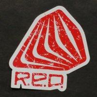 BURTON RED バートン【STICKER 3】 8.2cm×7.9cm ステッカー 新品正規(メール便)