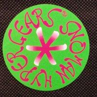 SNOMAN スノーマン 【HYPER GEARS STICKER】黄緑 7cm 新品正規(メール便)