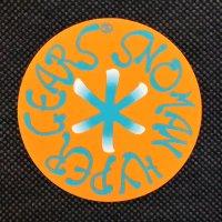 SNOMAN スノーマン 【HYPER GEARS STICKER】オレンジ 7cm 新品正規(メール便)