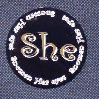 SNOMAN スノーマン 【She STICKER】黒 7cm 新品正規(メール便)