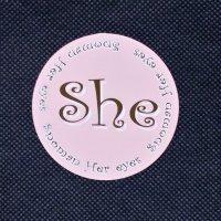 SNOMAN スノーマン 【She STICKER】ピンク 7cm 新品正規(メール便)