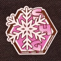 SNOMAN スノーマン 【結晶 SHG STICKER】ピンク 6.8cm×7.5cm 新品正規(メール便)