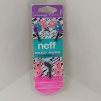 NEFF ネフ【DAILY BUDS】Purple/TEAL/PINK カラフルイヤフォン 新品正規