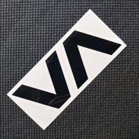 RVCA ルーカ 【VA THERMAL DIE CUT】 黒 7.5×2.8cm  カッティングステッカー 新品正規(定)