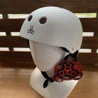 Triple 8 トリプルエイト 【SWEATSAVER HELMET】 WHITE RUBBER 艶消し白 スケートボードヘルメット 新品正規