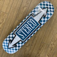 STEREO ステレオ 【CHECK ARROW ASSORTED STAIN】   8.0 新品正規品 スケートデッキ