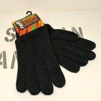 NEFF ネフ 【SUCKER GLOVE】 BLACK ニット 手袋 新品正規 (メール便)