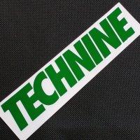 TECHNINE テックナイン【DIE CUT LOGO STICKER】緑 20×4cm ステッカー 新品正規(メール便)