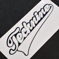 TECHNINE テックナイン【DIE CUT LOGO STICKER】 白/黒 15×6cm  ステッカー 新品正規 (メール便)