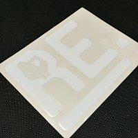 REVOLT リボルトステッカー【Re LOGO DIECUT STICKER】白 18×13.5cm  新品正規(メール便)