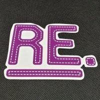 REVOLT リボルト ステッカー 【Re LOGO SHEET STICKER】紫 14×11cm 新品正規(メール便)