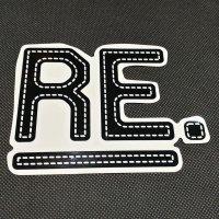 REVOLT リボルト ステッカー 【Re LOGO SHEET STICKER】黒 14×11cm 新品正規(メール便)