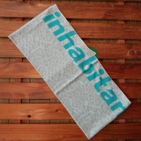 INHABITANT インハビ 【LEOPARD NECK.W】 IH378NW35 水色 マフラー 新品正規(定外外)