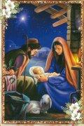 二つ折りクリスマスカード<br>聖家族<br>73020299の商品画像