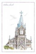 【50%OFF】わたりひさこの<br>長崎の教会ポストカード<br>崎津教会の商品画像