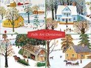 フォーク アート クリスマスカード<br />24枚入りの商品画像