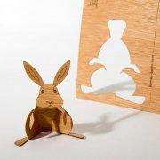 #18 木製ポストカード<br />(ウサギ)の商品画像