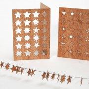 #179 木製ポストカード(24の星)<br />封筒付きの商品画像