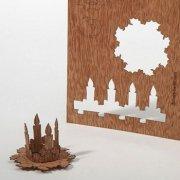 #372 木製ポストカード(アドベントリース)<br />封筒付きの商品画像