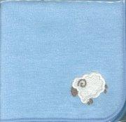 29102 羊のミニタオル 水色の商品画像