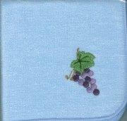 29090 ミニタオル ぶどうの木 水色の商品画像