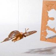 #17 木製ポストカード<br />(蝶)の商品画像