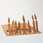 #78 木製ポストカード<br />(キャンドル)の商品画像