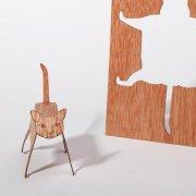 #344 木製ポストカード<br />(ネコ)の商品画像