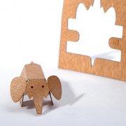 #1 木製ポストカード<br />(ゾウ)の商品画像