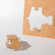 #7 木製ポストカード<br />(カバ)の商品画像