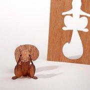 #274 木製ポストカード<br />(リス)の商品画像
