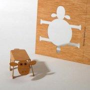 #3 木製ポストカード<br />(ヒツジ)の商品画像