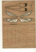 #352 木製ポストカード<br />(トンボ)の商品画像
