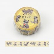 BM-LA025<br/>マスキングテープ【ライフ アライグマ】15mmの商品画像
